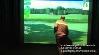 golf simulator   high definition golf