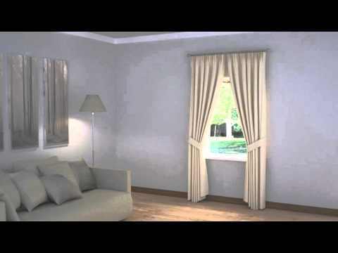 How to Dress Windows | Single Portrait Window with Good Space with Curtains & Blinds