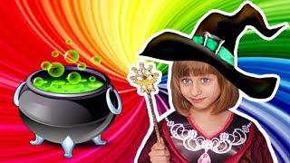 Маша и Школа Магии Увеличиваем Игрушки и Конфеты Видео для Детей Обнимашки с Машей