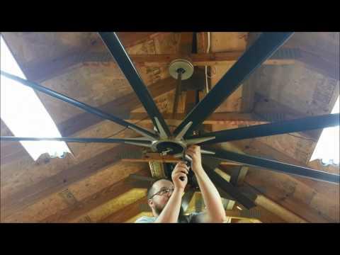 Full Test Video of a Fanimation Odyn (DC Motor) Ceiling Fan model FPD8149 (sped up)