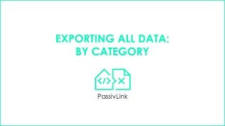 7 Revit to PHPP PassivLink: Exporting all data: By category