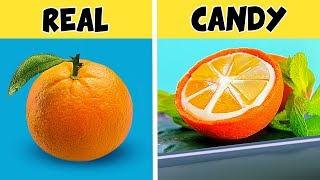 8 حيل (تقدروا تعملوها بنفسكم) لعمل فاكهة من الكاندي / تحدي كاندي الفواكه ضد الفاكهة الحقيقية