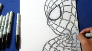 Fácil - Cómo dibujar a Spiderman | How to draw The Amazing Spider-man