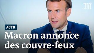 Covid-19 : Macron annonce un couvre-feux ciblé, l'appli «Tous anti-Covid» et des aides à la relance