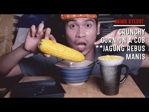 ASMR : CRUNCHY CORN ON A COB **JAGUNG REBUS (EATING SOUND)