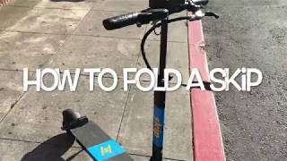 How to fold a Skip Scooter - RideIntoCash