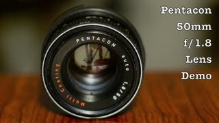 Pentacon 50mm f/1.8 Auto w/ Multi Coating MC in m42 Screw Mount For 35mm Film SLR & DSLR Cameras