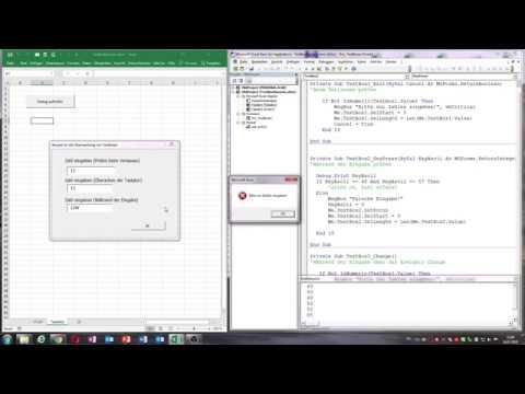 0037. Excel VBA: TextBox auf numerischen Inhalt prüfen / Isnumeric