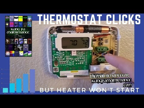 Thermostat Clicks But Heater Not Turning On Fan Works AC Run