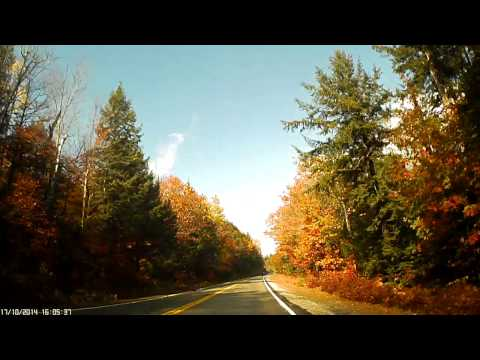 Driving the Kancamagus Highway, New Hampshire (NH Route 112)