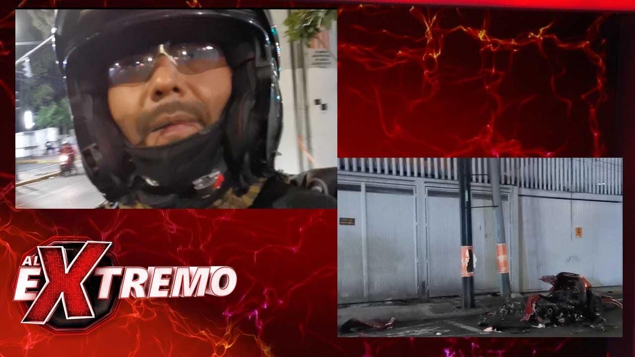 Un automóvil se parte a la mitad después de un trágico accidente en la Ciudad de México   Al Extremo