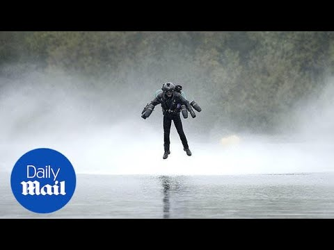 Real-life Iron Man claims jet suit speed record - Daily Mail