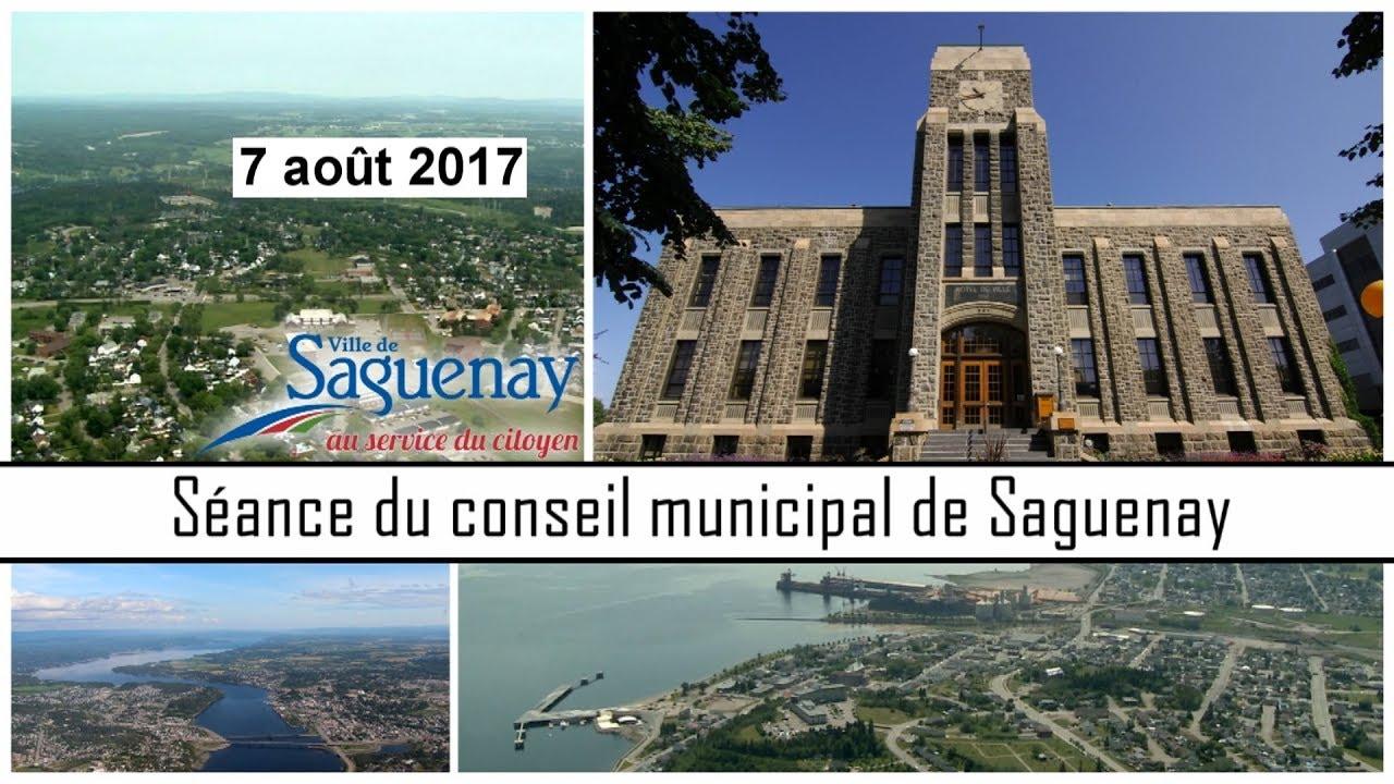 S ance du conseil de ville de saguenay 7 ao t 2017 youtube for Conseil piscine