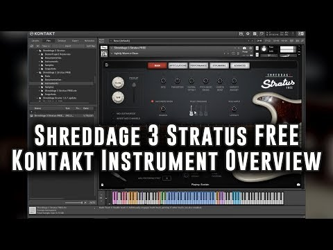 Shreddage 3 Stratus FREE (VST, AU, AAX) Virtual Guitar Instrument