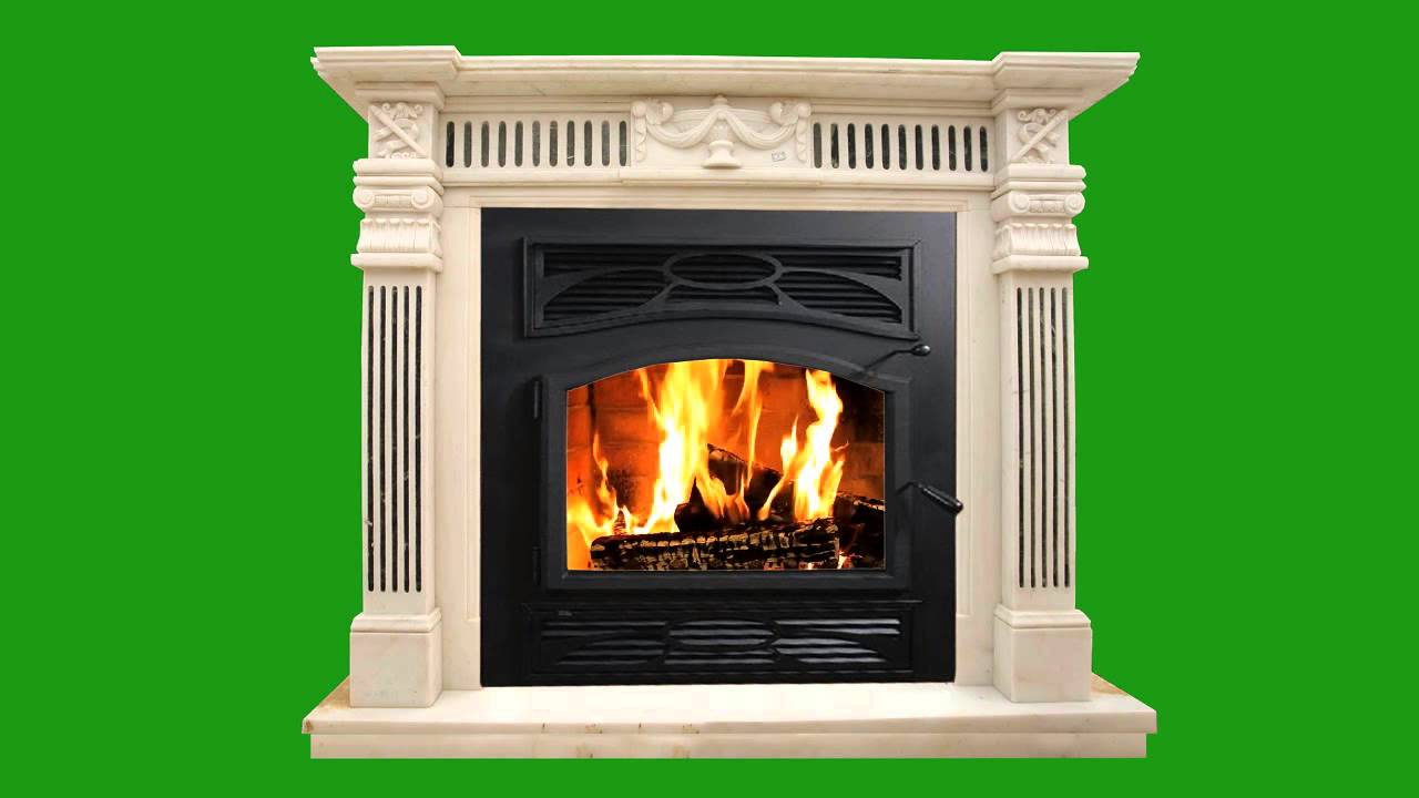 Green Screen Fireplace Chimenea 4 HD - YouTube