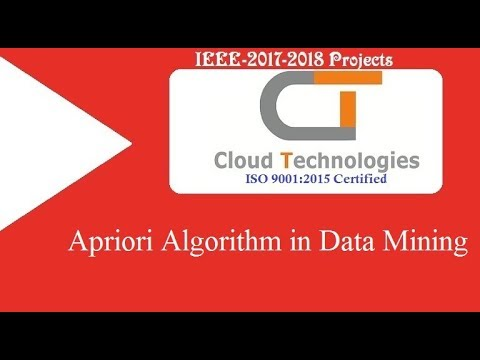 Apriori Algorithm in data mining   Cloud Technologies   IEEE Projects Hyderabad   Ameerpet