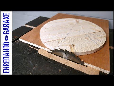 Table saw circle jig