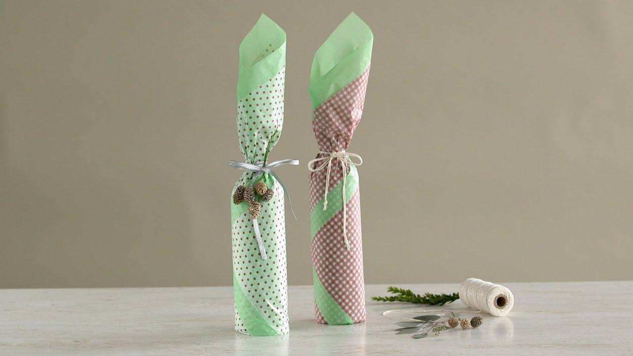 How to Wrap a Bottle- Martha Stewart