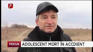 Adolescent mort în accident