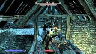 Tes V : Skyrim - Leveling Up Block Skills At Low Level [part 2: The Result]