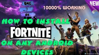 [NEW!!] DOWNLOAD AND INSTALL #FORTNITE FOR INCOMPACTABLE ANDROID PHONE with device check disabled