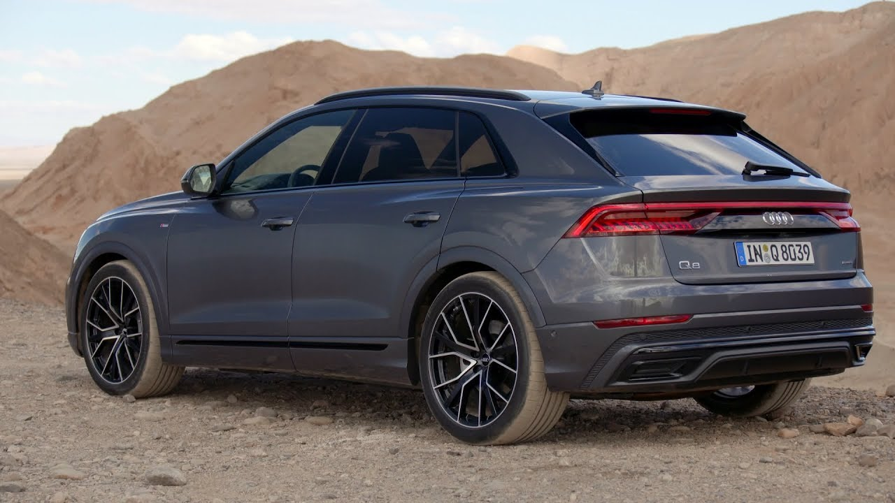 2019 Audi Q8 Daytona Grey Exterior Interior Driving Footage