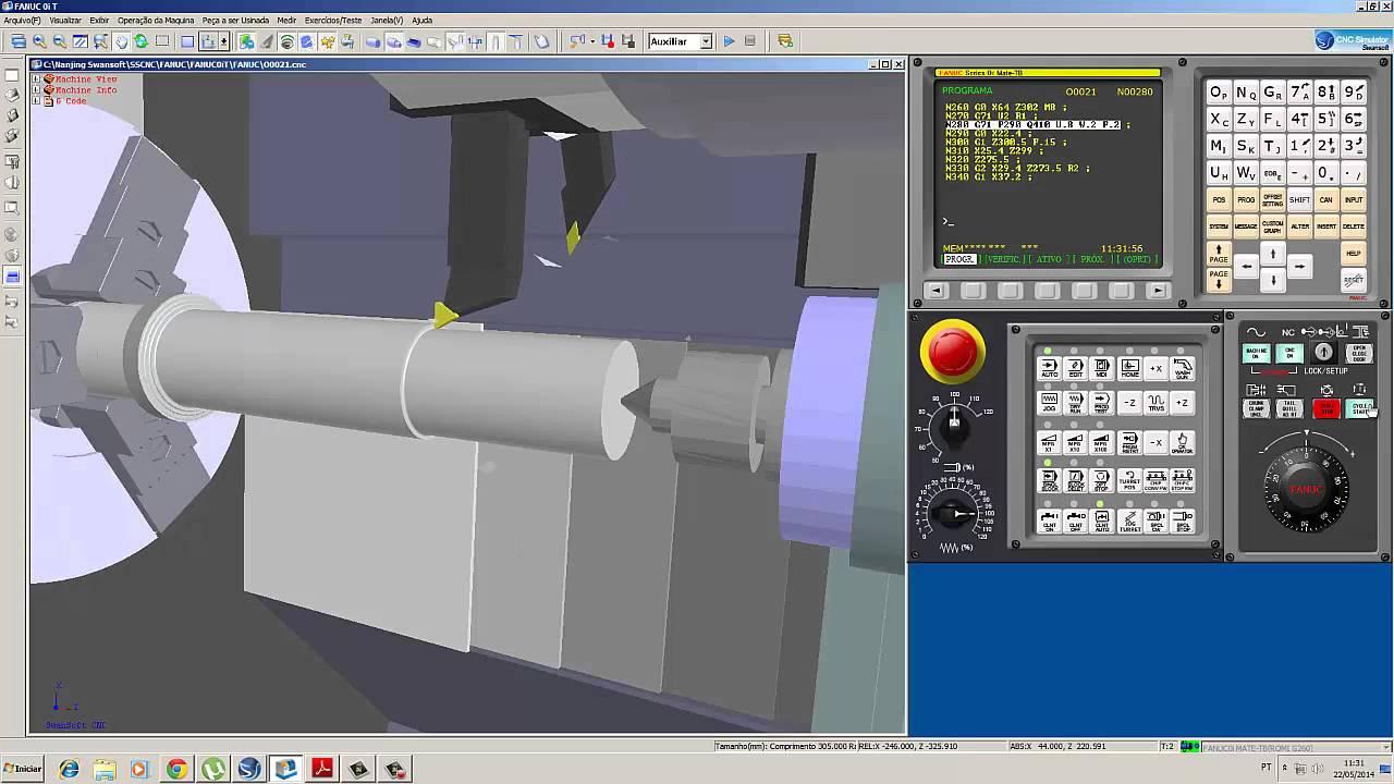 simulador de torno mecanico