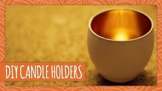 Diy Golden Candle Holders - Hgtv Handmade
