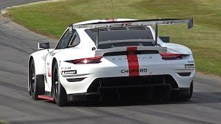 Porsche 911 RSR GTE Exhaust Sounds @ Goodwood Festival of Speed