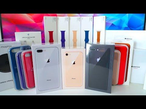 My Massive iPhone 8 + iPhone 8 Plus Unboxing!