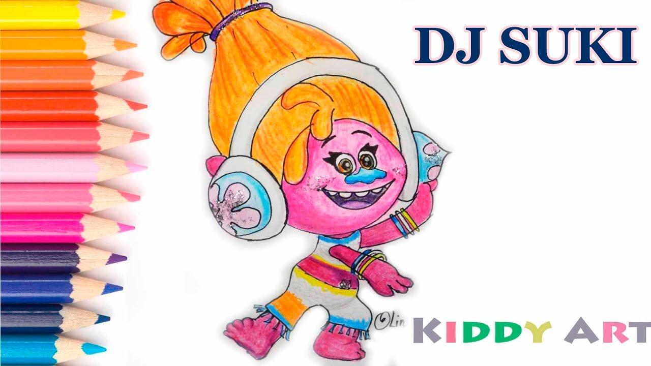how to draw dj suki from trolls