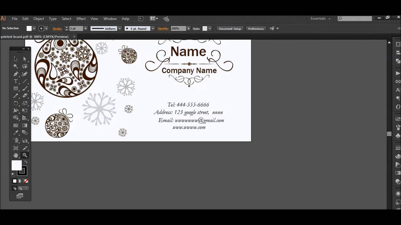 How to Create Print Ready Business Cards in 2 Minutes - YouTube