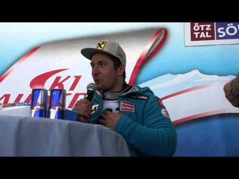FIS Alpine World Cup press conference Sölden GS 2014 - Hirscher