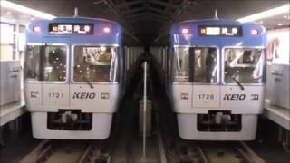 京王井の頭線 1000系1721F編成・1728F編成ライトブルー同士 吉祥寺駅発車