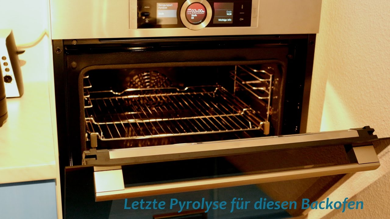 bosch hbg676es1 pyrolyse backofen test 3 youtube. Black Bedroom Furniture Sets. Home Design Ideas