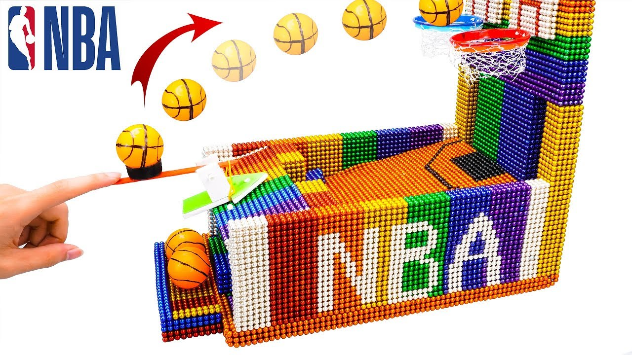 DIY - How To Build NBA Basketball Table Game With Magnetic Balls (Satisfaction) - Magnet Balls
