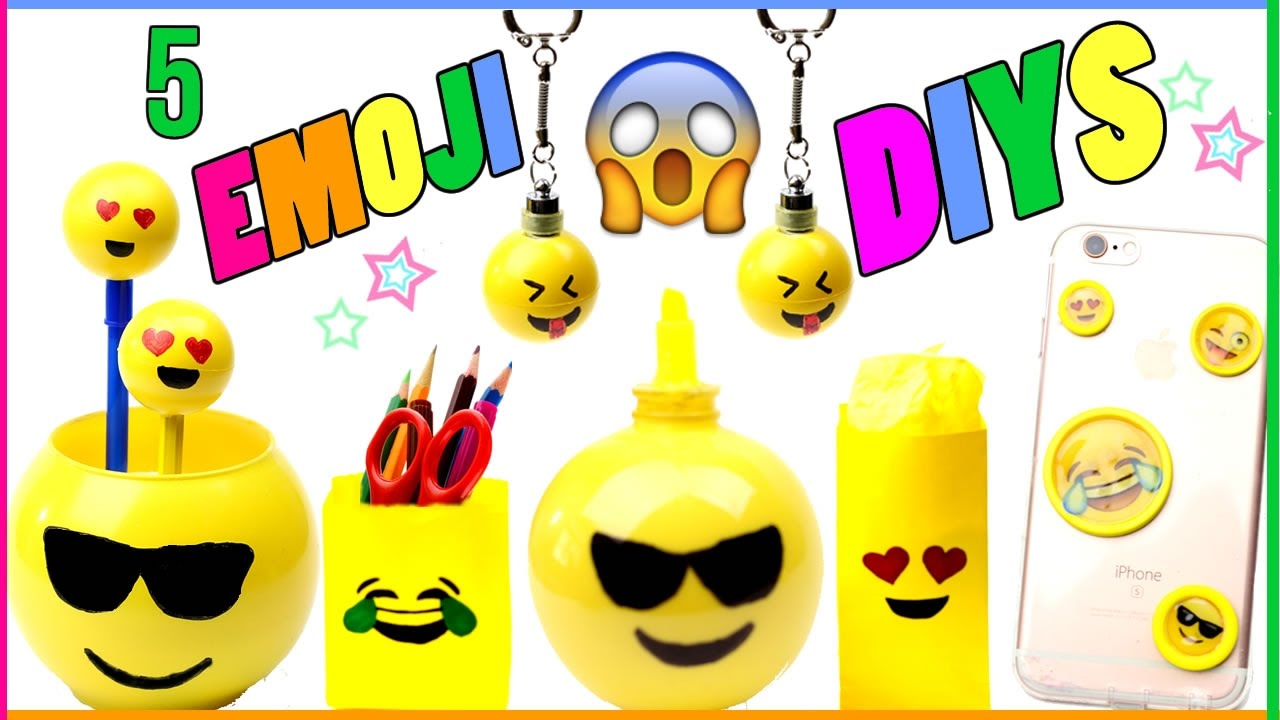 5 DIY Emoji Projects You NEED To Try! Room Decor, Phone Case ...