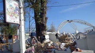 Снос клуба Ибица(В Одессе на пляже «Аркадия» проводятся работы по демонтажу клуба «Ибица» Мой Канал: http://www.youtube.com/user/andrmasarik..., 2013-11-16T12:58:10.000Z)