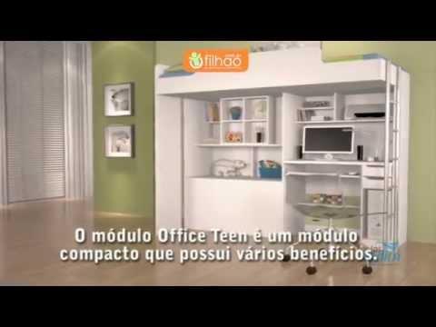Beliche modulo office teen c escrivaninha for Bureau adolescent