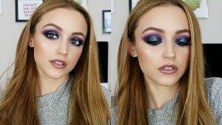 Purple & Blue Glitter   Makeup Tutorial