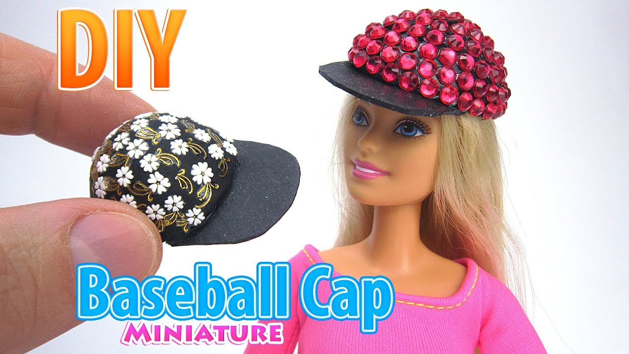 Diy Miniature Baseball Cap Dollhouse No Polymer Clay