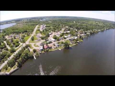 Belleville Bridge Ontario Aerial View - DJI Phantom 2 - GoPro 3+ Black