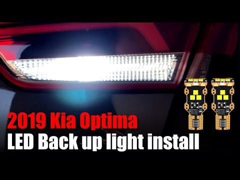 How to replace Backup lights on 2019 Kia Optima | LED Reverse Light Install Guide