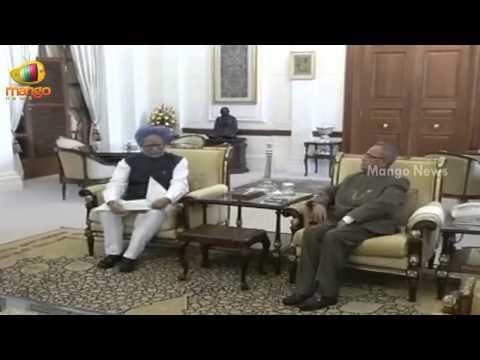 Manmohan Singh submits his resignation to President Pranab Mukherjee