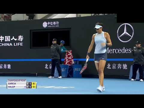 Match Point Caroline Garcia VS Simona Halep - Pékin Final 2017
