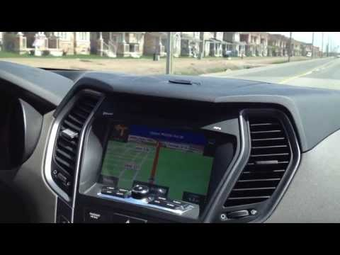 2013 Santa Fe OEM Integrated Navigation multimedia system standard audio system