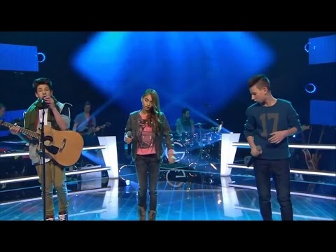 The Voice Kids (Germany) 2015 Noah-Levi, Luna and Michele — «Crazy In Love» Battle