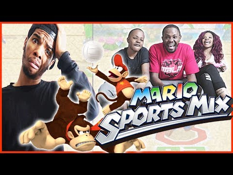 CAN THEY EVEN UP THE SERIES? EPIC BEACH SHOWDOWN! - Mario Sports Mix Volleyball Wii U Gameplay