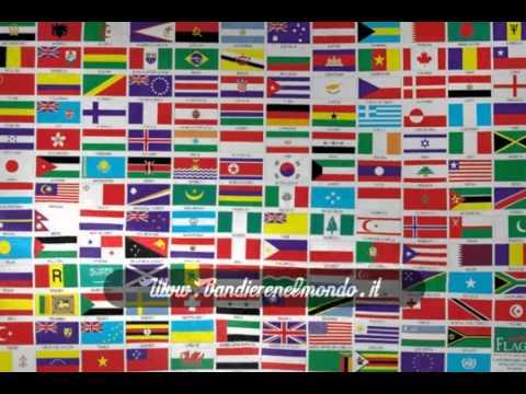 Bandiere nel mondo youtube - Bandiere da tavolo e basi ...
