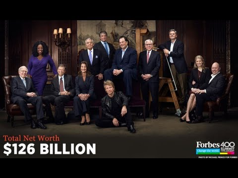 Billionaires on Forbes' Magazine Cover are Worth 126 Billion Dollars